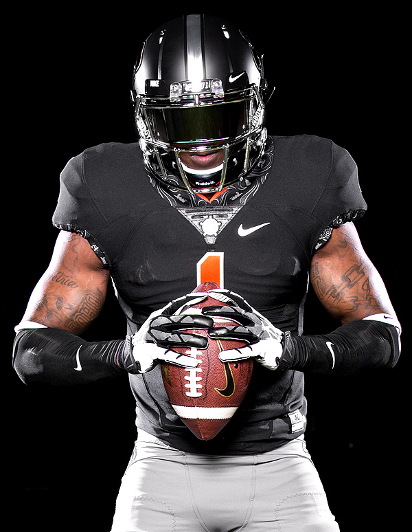 black osu football jersey